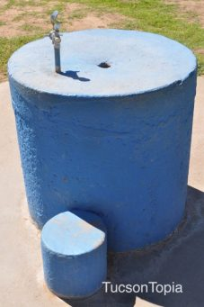 drinking fountain at Fort Lowell Park
