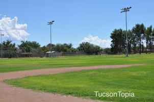lighted sports fields at Fort Lowell Park