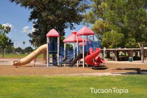 playground and ramada at Fort Lowell Park