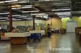 the warehouse at Community Food Bank of Southern Arizona