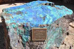blue rock at Tohono Chul Park