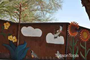 children's garden artwork at Tohono Chul Park