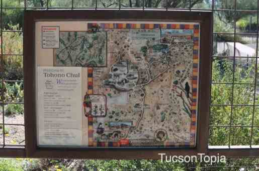 map of Tohono Chul Park