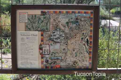 map of Tohono Chul Park