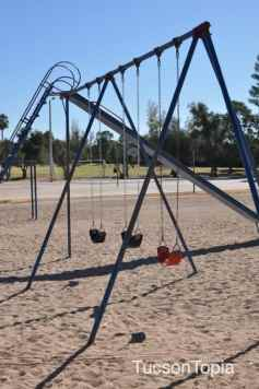 swings and slide at Himmel Park
