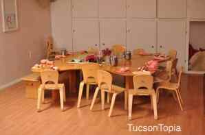 Kindergarten classrooms in Tucson Waldorf Schools don't have any desks