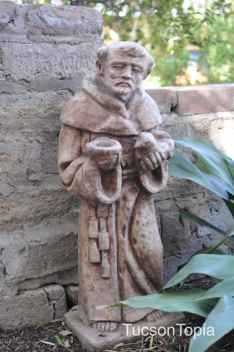 monk at Tucson Botanical Gardens