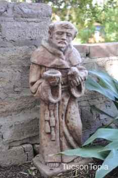 monk at Tucson Botanical Gardens