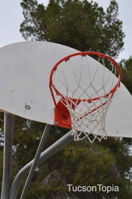 basketball hoop at Michael Perry Park