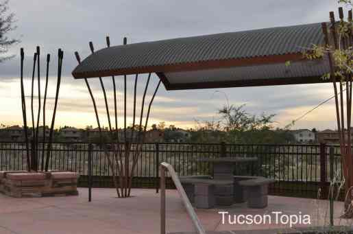 table along Pantano River Park