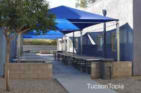 outdoor dining area at Sonoran Science Academy Tucson, K-8