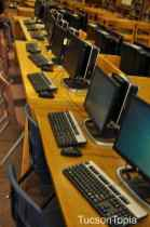 computers in the library at University High School