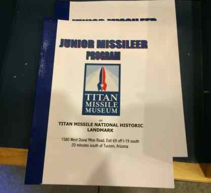 Junior Missileer Program at Titan Missile Museum