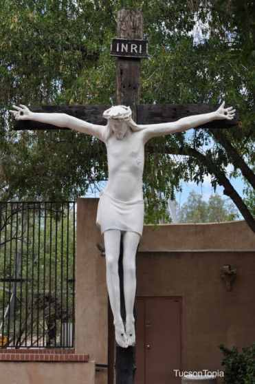 Jesus on the cross at Garden of Gethsemane