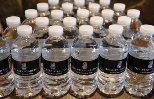 Ritz-Carlton water bottles
