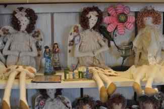 gift shop dolls at Apple Annie's