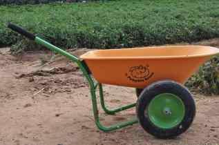 wheelbarrow at Apple Annie's