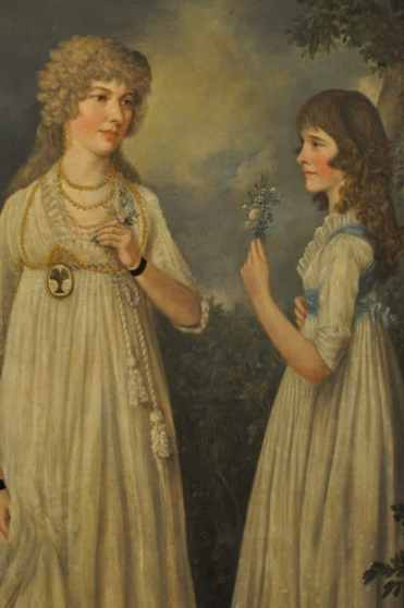 Portrait of Widow and Daughter by Ralph Earl at UA Museum of Art