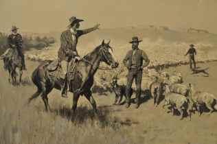 horses and shepherds at UA Museum of Art