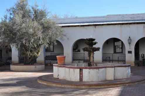 courtyard at Mission San Xavier del Bac