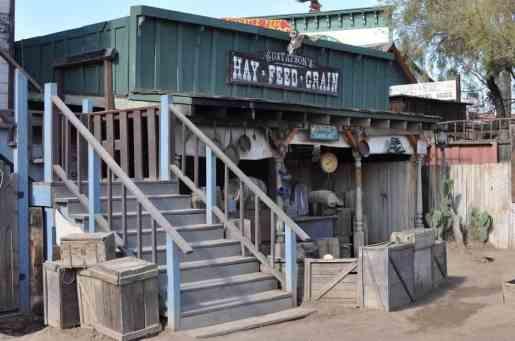 stunt show set at Trail Dust Town