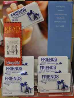 Friends of the Pima County Public Library Gift Cards are available for purchase