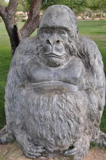 bronze gorilla on the Safari Trail