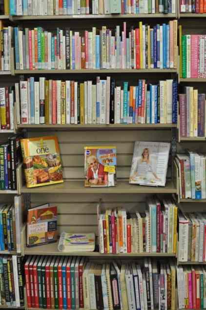 cookbooks at the Book Barn