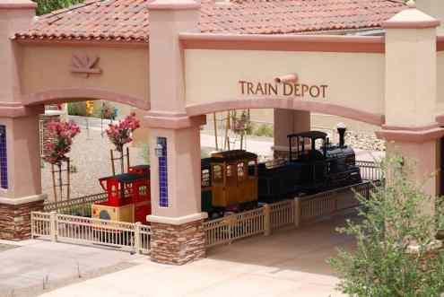 train depot at Rancho Sahuarita