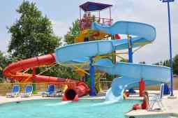 waterslides at Rancho Sahuarita