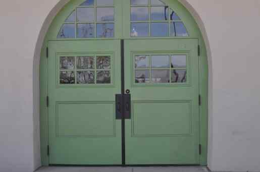 green doors at Maynards Market