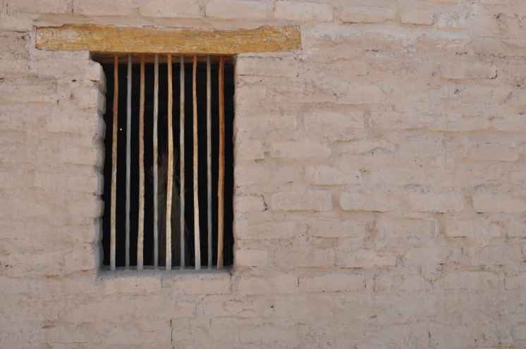 window and wall at Presidio San Agustin