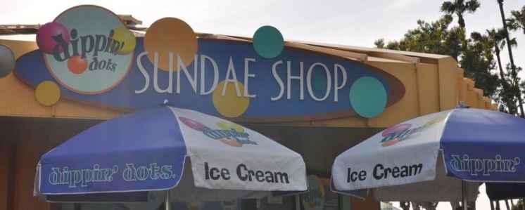 dippin' dots sundae shop at SeaWorld San Diego