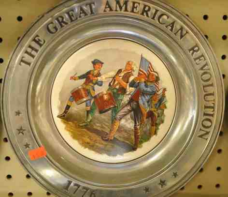 Great American Revolution plate at InJoy Thrift Store