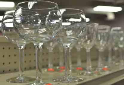 wine glasses at InJoy Thrift Store