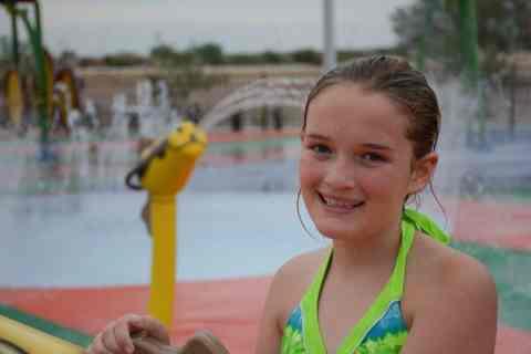 child at Marana Splash Pad