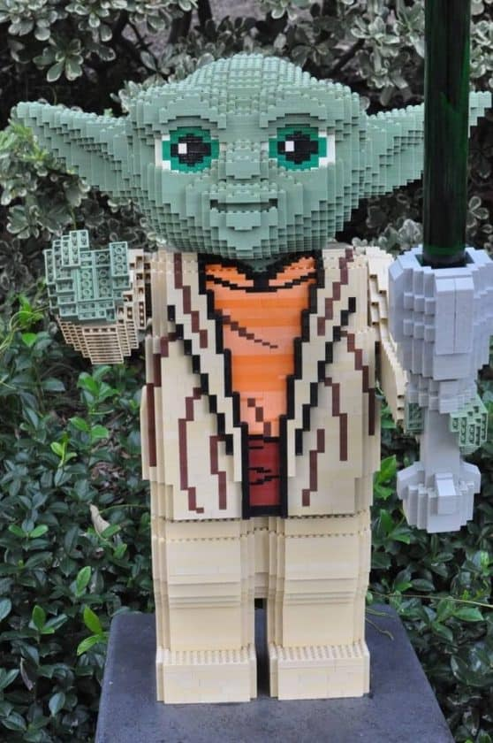 yoda at LEGOLAND California