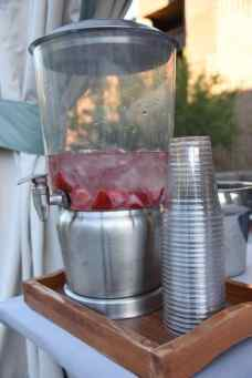 complimentary strawberry water poolside at Loews Ventana Canyon