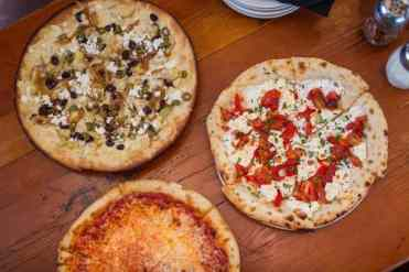 Pizzas at Humble Pie