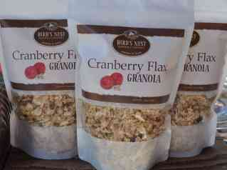 Cranberry Flax Granola by Bird's Nest Baking Company