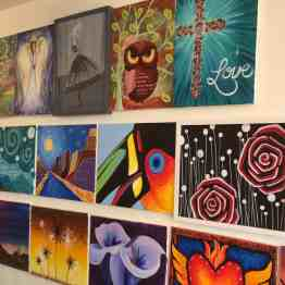 Creative Juice painting class Tucson