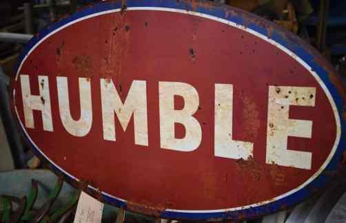 Humble Sign at Midtown Mercantile Merchants