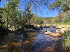 flowing water at Sabino Canyon