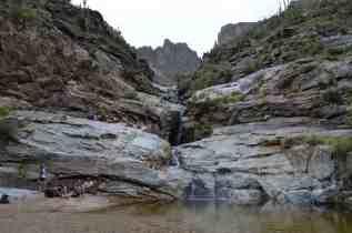 hikers at Seven Falls sabino Canyon by Michael Eskue