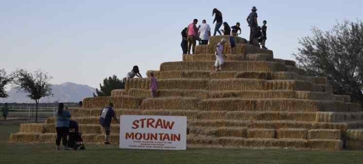 Straw Mountain at Marana Pumpkin Patch & Farm Festival