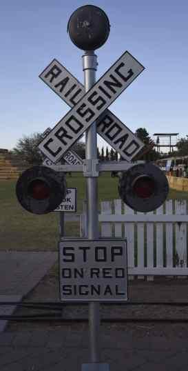 railroad crossing at Marana Pumpkin Patch & Farm Festival