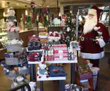 gift shop display Christmas at the Princess
