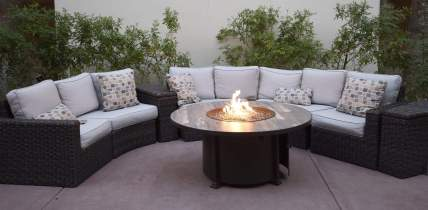 outdoor seating with fire Fairmont Scottsdale Princess