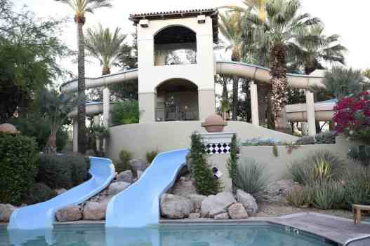 two waterslides at Fairmont Scottsdale Princess
