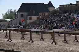 audience watching jousting at Arizona Renaissance Festival